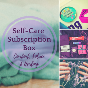 Self-care subscription healing box comfort, solace and healing