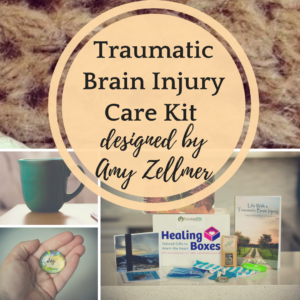 Traumatic brain injury care kit designed by Amy Zellmer