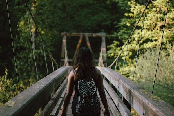 Healing gifts image - woman on bridge