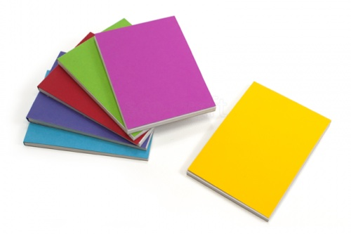 Notebooks in several colours